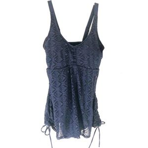 July Sand Navy Blue Swimsuit XL